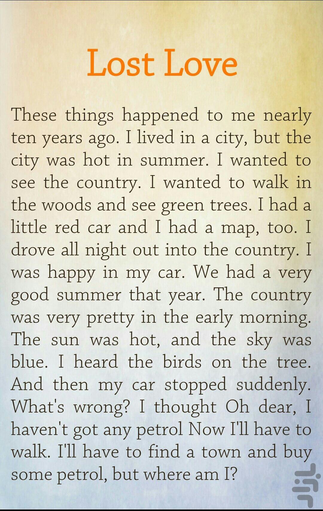قصة سالي بالانجليزي